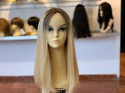 Yaffa Wigs 100 European Processed Human Hair Blond Wig With Lace Front 24 Long