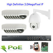 16channel 5mp 2592p Nvr Security 650 Onvif Poe Ip 5mp Bullet 15 +ptz Camera