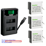 Kastar Battery Usb Lcd Charger For Gopro Ahdbt-501 Hero 5 And Gopro Hero5 Black