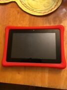 Nabi Nab12-nv7a Wifi Kids Android Computer Tablet W Red Bumper Case Used Working