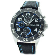 Lee Cooper Mens Watch Lc-23g-b Black Leather Strap Miyota Quartz Date And Day