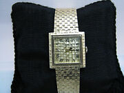 A1019 Nice Vintage 1970and039s Lucian Piccard Watch Bracelet Band In 14k Yellow Gold