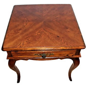 Vintage Nightstand Hickory Chair Co. Country French 1 Drawer Occasional Lamp Tab