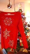 Christmas Twinkle New Rare Sold Out @ Boston Proper Sequin Snowflake Rhinestone