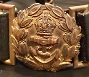 British Royal Navy, Ww1great War,officer Duty Sword Belt And Buckle, Kings Crown