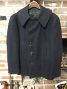 Excellent Cond Vintage Ww2 10 Buttons U.s. Navy Pea Coat Army