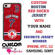 Boston Red Sox Jersey Phone Case Cover With Nameandno. For Iphone Samsung Lg Etc
