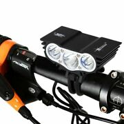 Ultra Bright Bike Front Led Light White Night Bicycle Lamp Rechargeable Water