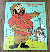 Beany And Cecil Playskool Captain Huffenpuff Vintage Wood Puzzle