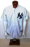 David Cone Signed Game Issued 1996 Yankees Jersey Ins 36 Mint Auto Cbm Coa