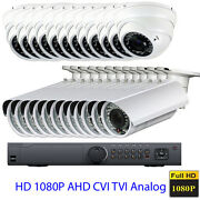 24ch 1080p Tvi Dvr 24 4-in-1 Osd Ahd Tvi 2.6mp Outdoor Security Camera System Fp