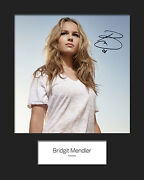 Bridgit Mendler 1 Signed 10x8 Mounted Photo Print Reprint - Free Delivery