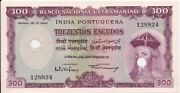 Portuguese India 30000 1959 - Unc - Punched