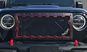 2018 Jeep Wrangler Brute Machined Grille -anodized Red