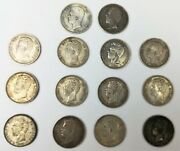14 Coins Of 5 Pesetas Of Silver. Amadeo I. King Of Spain. Year 1871.