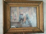Antique Oil Painting Almost 200 Years Old With Original Wooden Frame