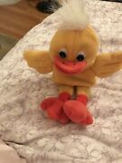 Vintage Rare Collectable Toy Baby Duck Soft Containing Plastic Pellets By Elcee
