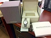 Baume And Mercier Linea Chronograph Ladies Watch Model M0a10012 Pre-owned + Box