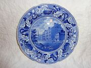 Antique 19th.c Staffordshire Historical Blue City Hotel New York Plate J