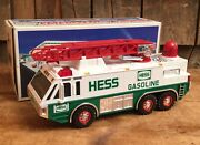 Vintage 1996 Hess Toy Emergency Truck Nib Gas Oil Service Station Collectable