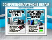 Computer Smartphone Tablet Retail Window Sign Poster Windows Android Apple