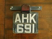 1948-1954 Lucas St-51 Tail Light Tag License Plate Early England Australia Rover