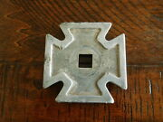 Iron Cross Fire Truck Motorcycle Accessory Bumper Ornament 1910's 1920's 1930's