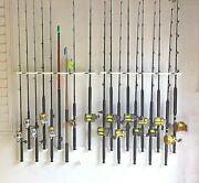 Half The Wall Space In This Vertical Wall Mount Rod Holder For 10 Rods And Reels