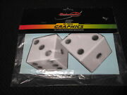Old School 90and039s Stickerpoint Lucky Dice Hi-tech Graphics Auto Sticker/decal