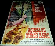 1955 The Rawhide Years Original Spain Poster Tony Curtis Western Colleen Miller