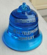 Blue Bell Paperweight, Southwestern Bell, Local And Long Distance , Fenton M136