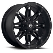 20x12 Fuel D531 Hostage Rims Black Offroad Wheels 35 Tires Fit Lifted Chevy Gm