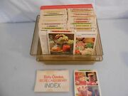 Vintage Betty Crocker Recipe Card Library Index Collection Ed Illustrated 1970s