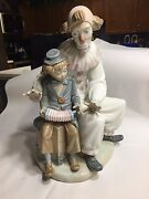 Lladro Nao Zaphir Lesson Of Music 701 Clown Boy Accordion Mint Condition