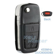 For Pontiac G8 2008-09 Terrain Replacement Flip 433mhz Remote Key Fob Ouc6000083