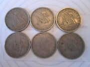 Five 500 Escudo 6 Coin Set Vintage Portugal Coin Currency Nickel  Is214