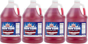 4 Gallon Case Carnival King Cherry Red Snow Cone Crushed Ice Machine Syrup