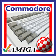 Commodore Amiga 2000 A3000 A4000 Keyboard Replacement Key Caps With White Pegs