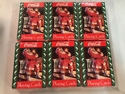 6-santa On Stairs Coca-cola Playing Cards 1993 Sealed New