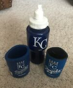 Kansas City Royals 24oz Water Bottle With 2 Can Koozies Set Combo