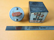 Vintage Wwii Quartz Crystal Bliley Variable 3548 Kc Frequency Vf2 +box Bind3-30