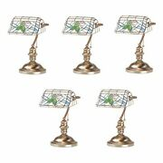 Table Lamp Antique Brass Style Stained Glass 14h   Renovatorand039s Supply
