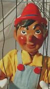 Disney Pinnochio Puppet Antiq Marionnette Wooden Doll Limi/ted Antique Like New