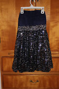 My Michelle Semi-formal Or Formal Prom Navy Blue Strapless Dress Size 3 Sequined