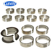 Clevite 77 Cb743p Ms829p Main+rod Bearings Kit For Bb Chevy 396 402 427 454 502