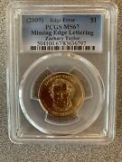 2009 Zachary Taylor Pcgs Ms67 Missing Edge Lettering Error Coin 504100.67