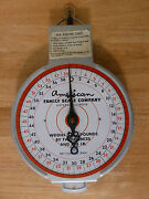Vintage 60lbs American Family Hanging Scale. Not Legal For Trade.