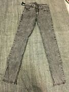 25w X 32l - Cheap Monday Grey Acid Washed Jeans New - Tight Black Ice