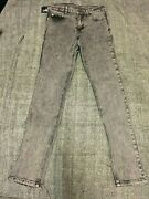 26w X 32l - Cheap Monday Grey Acid Washed Jeans New - Tight Black Ice