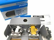 New Shimano Pd-m520w Epdm520w Spd Mtb Pedals Clipless Sm-sh51 Cleats White